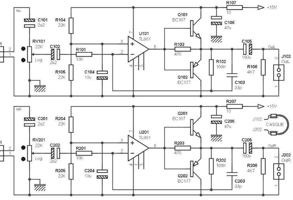Stereo Headphone amplifier Archives - Amplifier Circuit Design