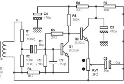 Mono Preamp with Small Transformer and Two Transistors