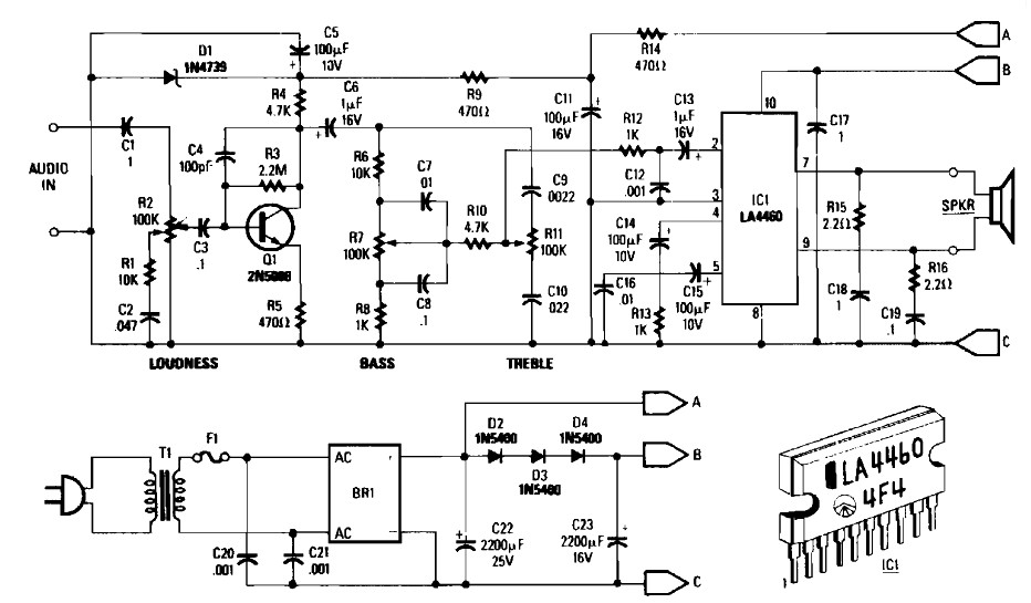 5 W audio amplifier