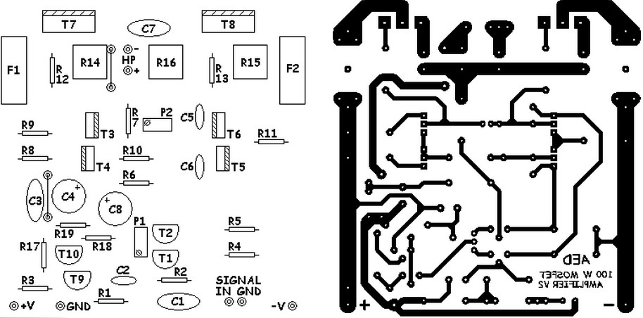 Basic MOSFET amplifier PCB layout