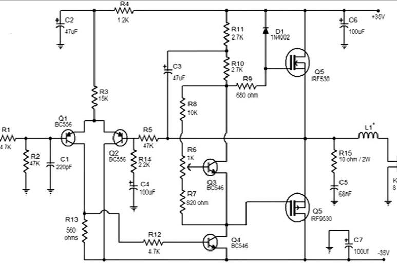 50 watt mosfet amplifier Archives - Amplifier Circuit Design