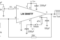 50W amplifier based LM3886TF