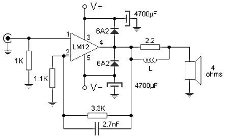 100 W amplifier based M12CLK