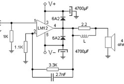 100W Audio Amplifier with Integrated Circuit