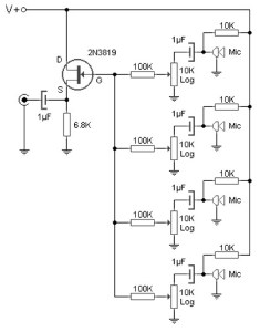Multidirectional microphone amplifier