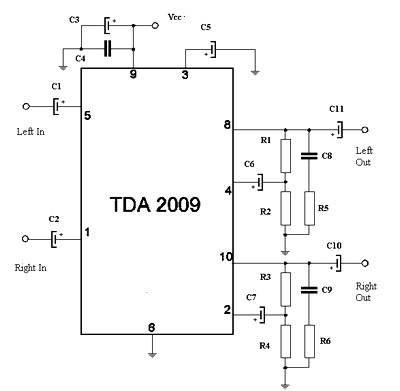 pretty tda amplifier circuit diagram images mini audio amplifier