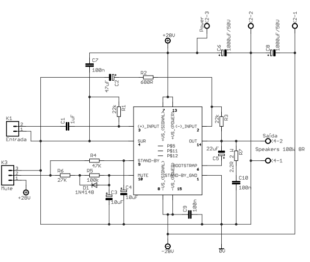 100w Tda7294 Amplifier Circuit Diagram - Pcb Circuits