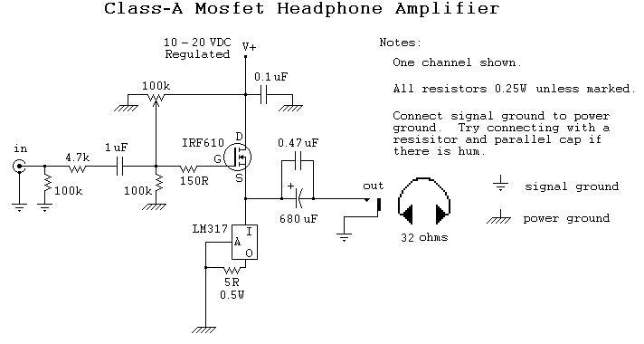 mosfet headphone amplifier