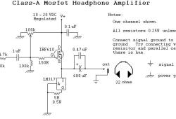 Headphone Amplifier based MOSFET