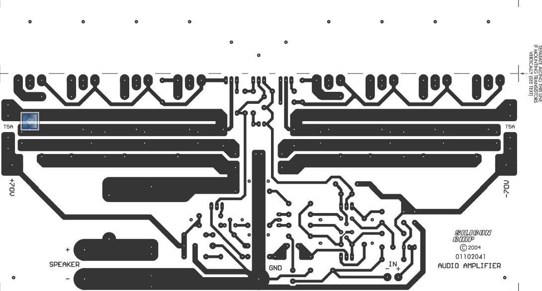 350 Studio Amplifier Copper PCB Layout