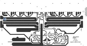 350 Studio Amplifier Copper PCB Layout