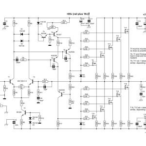 600W Mosfet Power Amplifier Circuit Design