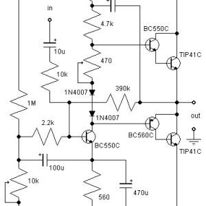 21W Class AB Audio Amplifier Circuit