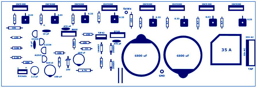 400 Watt 70 Volt Amplifier Schematic & PCB Layout Design