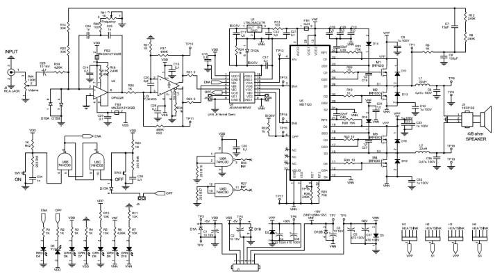 Amplifier Circuit Design Amplifier Project Scheme Diagram