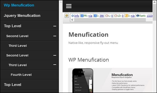 wordpress-menufication