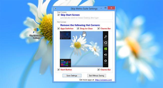 Skip Metro Suite para Windows 8