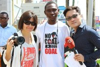 SET TV crew (Taiwan) with Archibald (campaign photographer)