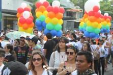 Los reos caminaron por la Avenida Segunda. Foto: Jonathan Bonilla. amprensa.com