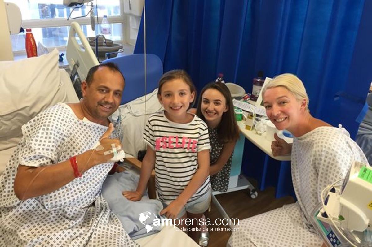 Dona riñón a exesposo para que sus hijas no se queden sin padre