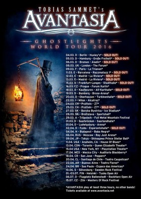 AVANTASIA TOUR DATES