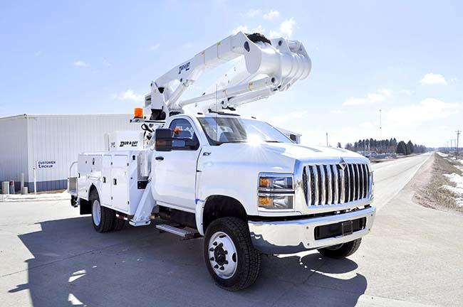 Custom-Built Dur-A-Lift Bucket and Service Trucks
