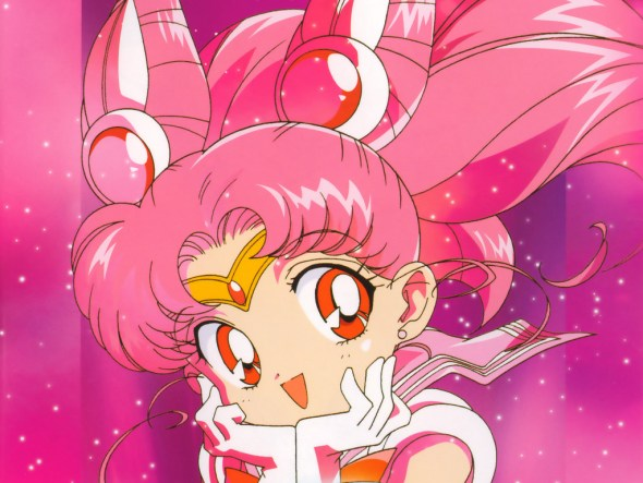 This character is named Sailor Mini Moon.