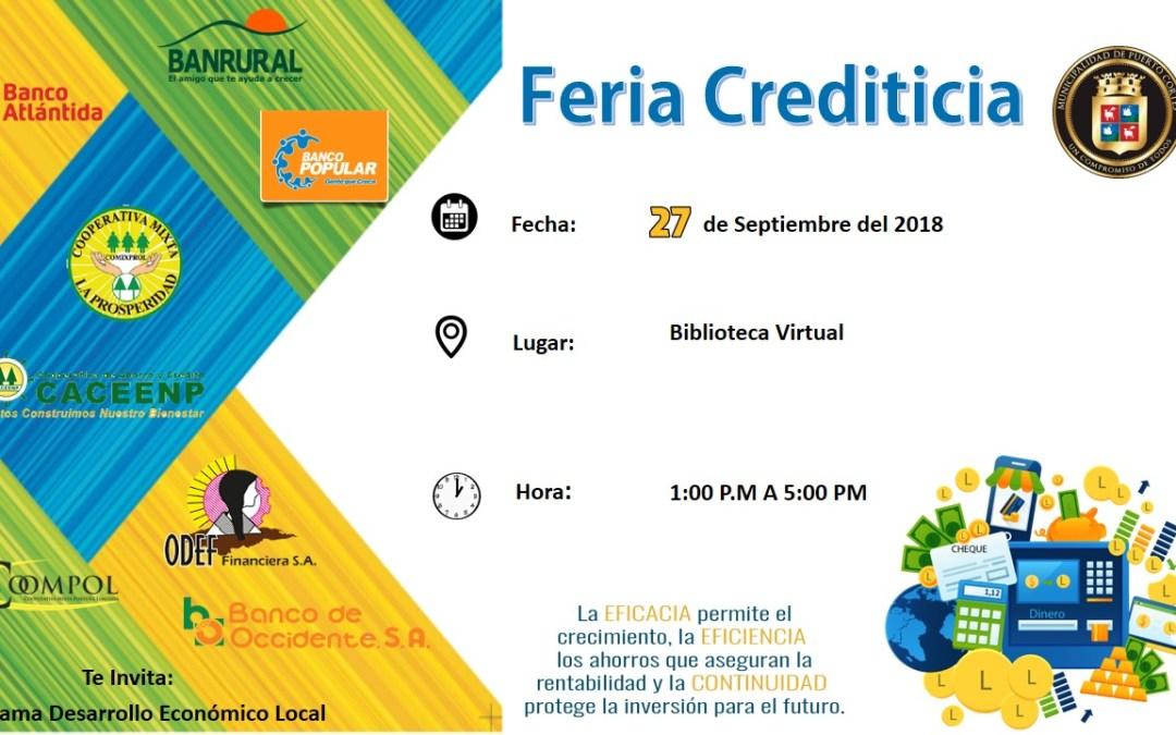 El Programa de Desarrollo Local te invita a la Feria Crediticia