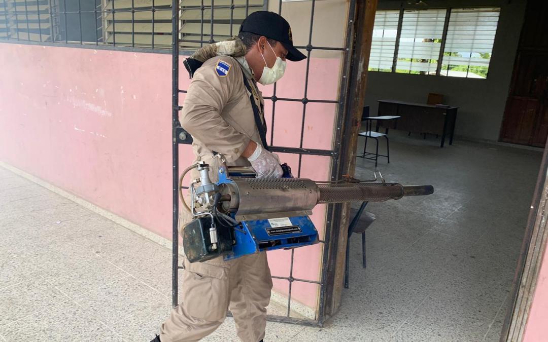 Cuerpo de Bomberos haciendo su parte