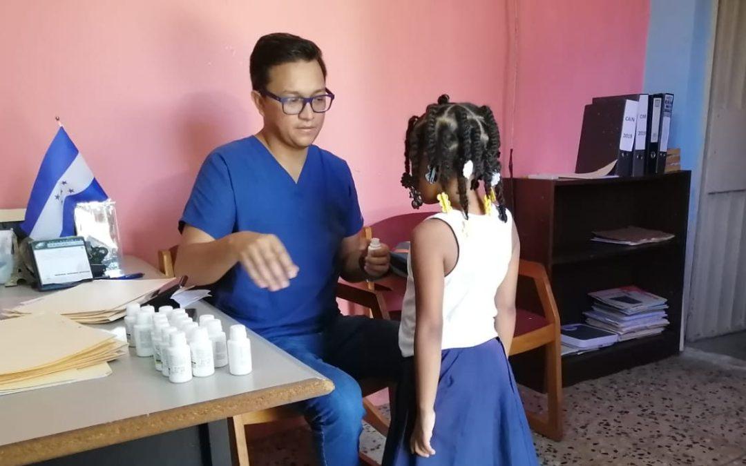 Visitamos el CAIN San José donde administramos desparasitantes a los infantes.
