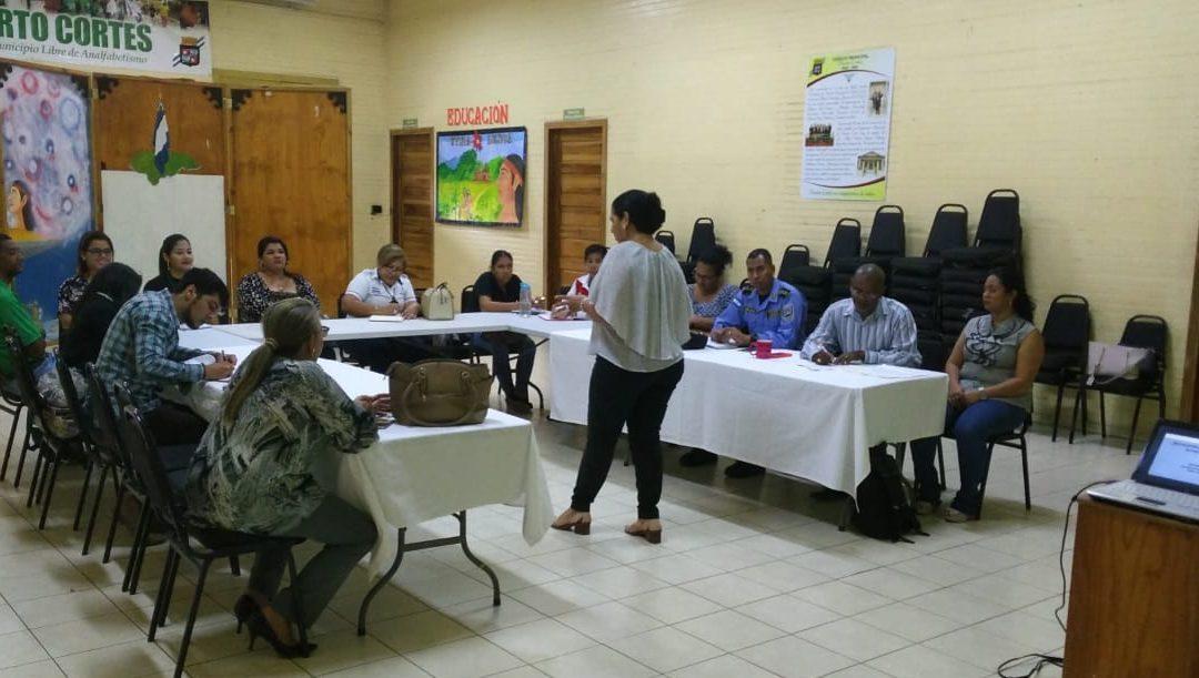 Red Interinstitucional de protección a la Niñez recibe importante taller sobre Trata de Personas.