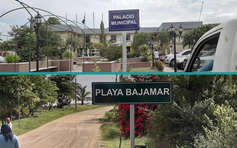 Estamos instalando señales informativas de las zonas turísticas del municipio.