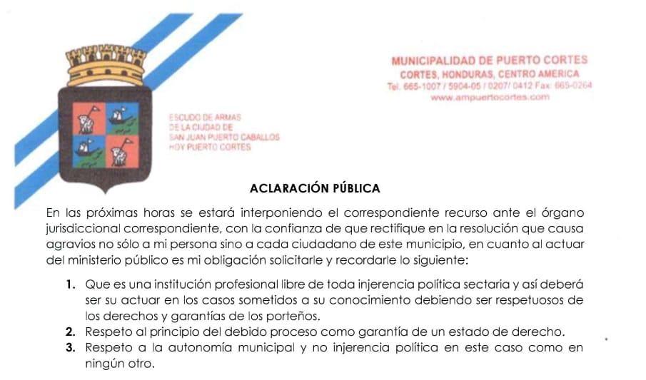 Aclaración Pública.