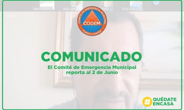Presentamos informe a través del CODEM.