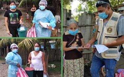 328 familias de Calan son beneficiadas con Kits de Bioseguridad e Higiene.