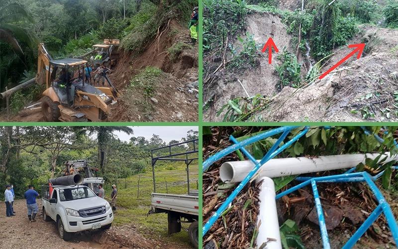 CODEM informa: trabajos de reconexión para restablecer servicio de Agua potable.