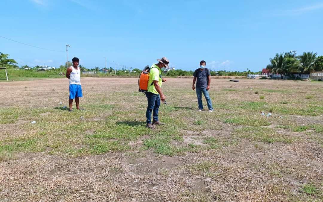 En Un 15% Avanza La Reparación De La Cancha De Fútbol De Barrio San Isidro.