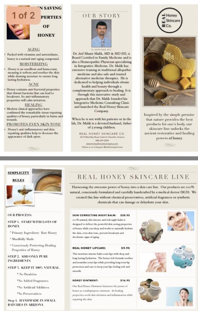 raw honey SKIN CORRECTING NIGHT balm | Amra Lear