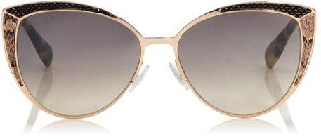 Jimmy Choo DOMI Metal Framed Cat Eye Sunglasses Snakeskin
