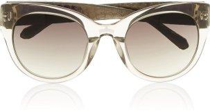 Linda Farrow Cat Eye Acetate Watersnake Sunglasses