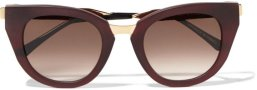 Thierry Lasry Snobby Cat Eye Matte Acetate Metal Sunglasses