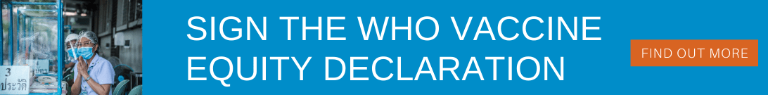 Sign the WHO vaccine equity declaration