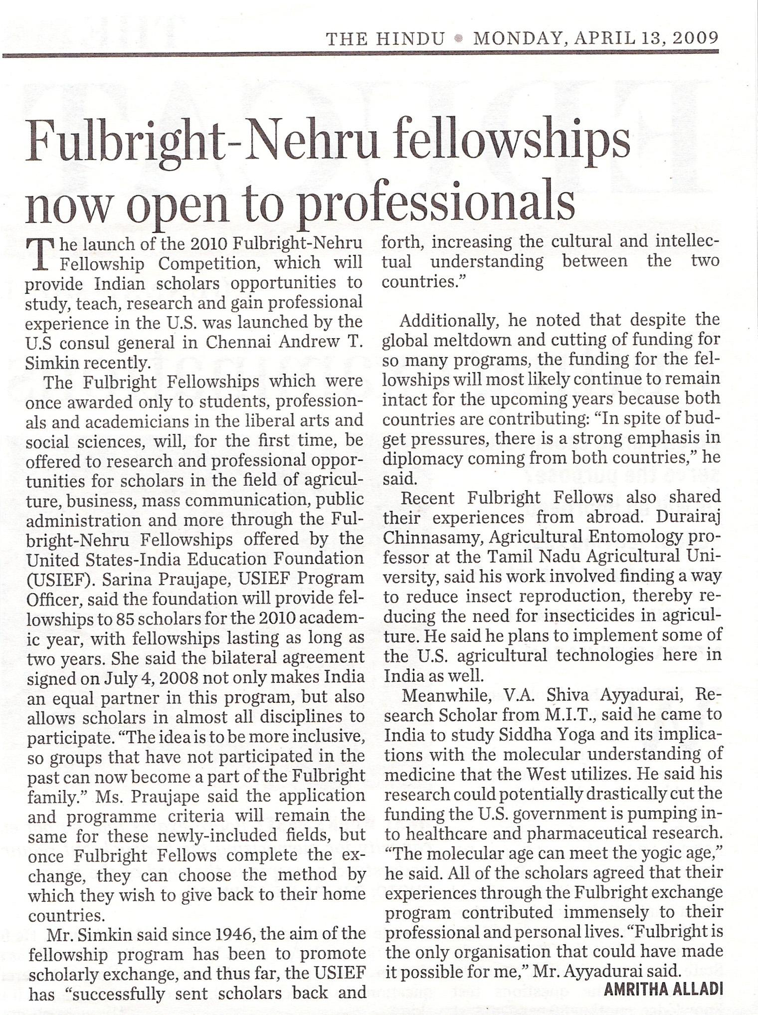 Fulbright-Nehru