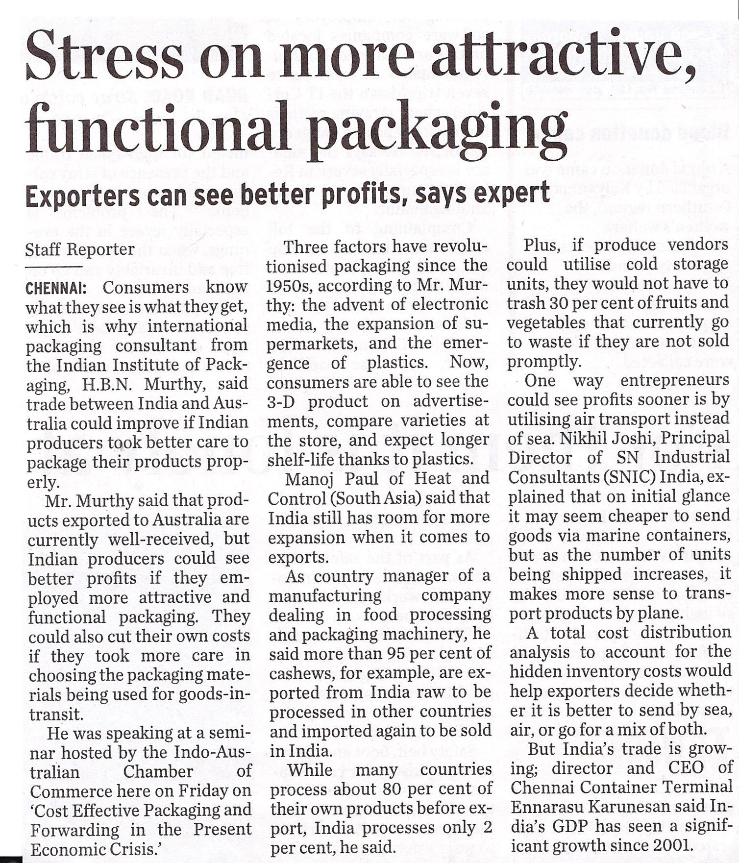 IND-Aus trade packaging