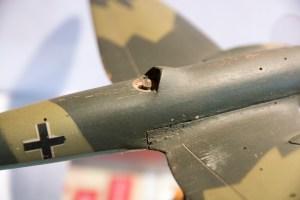 Maquette du Heinkel He 111 – poste du mitrailleur dorsal