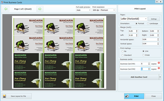 Business card maker software windows 7 choice image card design business card software windows 8 images card design and card template how to print from photo reheart Image collections