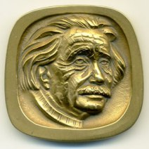 Albert Einstein Jewish-American Hall of Fame Medal Designed by Robert Russin