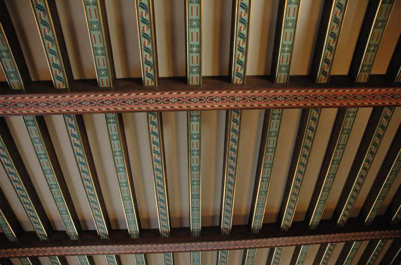 Decorative Painted Wood Ceiling