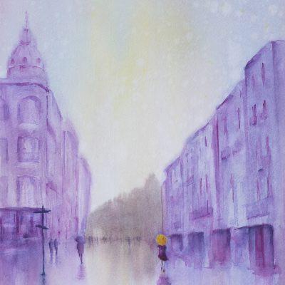 Purple Rain, Narbonne   65cm x 55cm SOLD