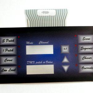 Afficheur LIVE 12-3D RVE - clavier afficheur Lexan 11 touches + leds